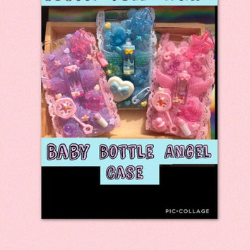 Custom full whip baby bottle angel case