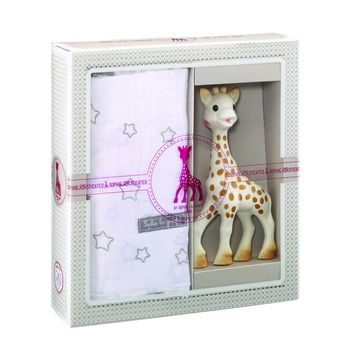 Sophie the Giraffe Birth Set/Swaddle - Sophisticated