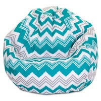 Majestic Home Goods Pacific Zazzle Bean Bag, Small, Turquoise