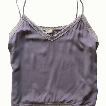 Heather Lace Trim Cami Set