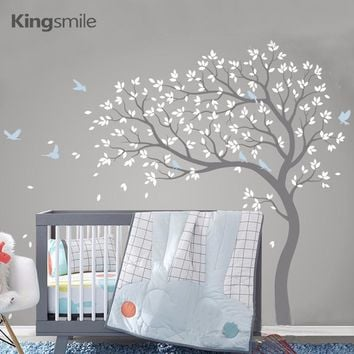 Large Tree Wall Sticker Branches Birds Removable Vinyl Nursery Art Decals PVC Poster Wall Stickers for Baby Kids Room Home Decor