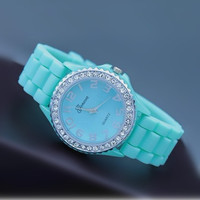 Mint Color Silicone Watch k004