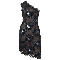 1987 Rare Yves Saint Laurent Cocktail Dress in Black Lace and Sequins