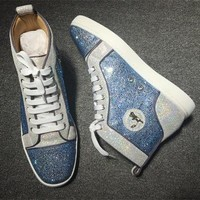 Cl Christian Louboutin Rhinestone Style #2106 Sneakers Fashion Shoes - Best Deal Online