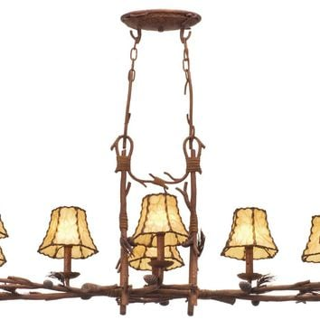 Ponderosa 8 Light  Rectangular Chandelier