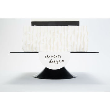 White Rewritable Cake Sign