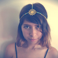 Flower Head Chain Boho Head Piece