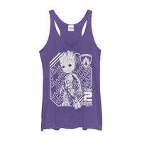 Marvel Womens - Guardians of Galaxy Vol. 2 Groot Athletic Racerback Tank
