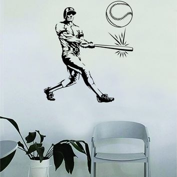 Baseball Player OG Wall Decal Sticker Vinyl Art Bedroom Room Home Decor Quote Ball Kids Teen Baby Boy Girl Nursery School Sports Homerun Fitness