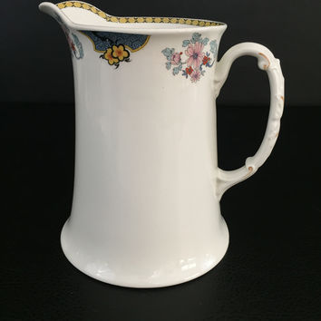 Antique ceramic water pitcher Johnson Bros England 1900's 1910's