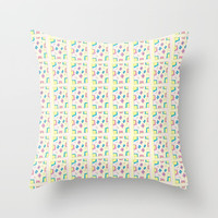 Rectangle and abstraction 4-mutlicolor,abstraction,abstract,fun,rectangle,square,rectangled,geometry Throw Pillow by oldking