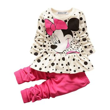 KEAIYOUHUO Children Clothing Sets Outfits Suit Costume For Kids Sport Suits Toddler Girl Clothes Sets Cartoon Baby Girls Clothes