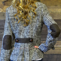 Cold Rush Brown Wool Blazer Jacket
