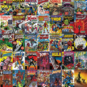 Marvel Heroes Covers Poster