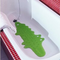 Ikea Patrull Bathtub Mat, Crocodile Green