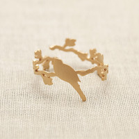 Bird On The Branch Ring In Gold on Luulla