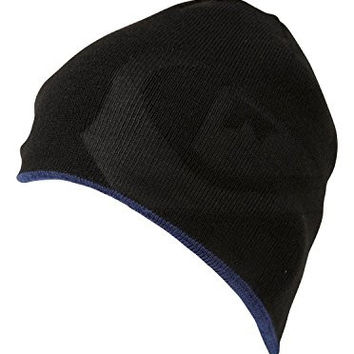 Quiksilver Men's Hot Dog Reversible Beanie Hat Cap-Black/Dark Royal