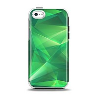 The Shiny Vector Green Crystals Apple iPhone 5c Otterbox Symmetry Case Skin Set