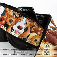 dSLR Camera Strap, SLR, Cartoon Dogs, 40