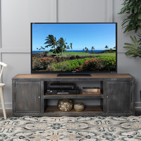 Bayview Antique Black & Silver Firwood TV Stand