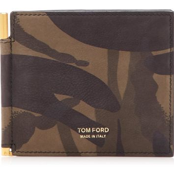 Camouflage Money Clip Wallet by Tom Ford