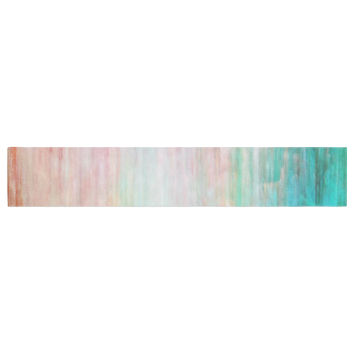 """Iris Lehnhardt """"Color Wash Teal"""" Blue Turquoise Table Runner"""