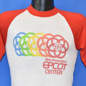 80s Disney World Epcot Ringer Jersey t-shirt Small