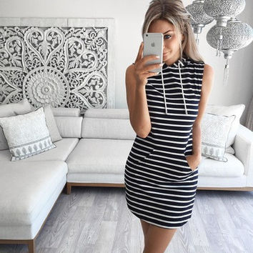 Spring Summer Sleeveless Stylish Dress