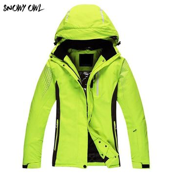 Free New Brand Women's Solid ski jacket Winter Women Sportwindproof Snowboard Coat kiing Snowboarding Clothing