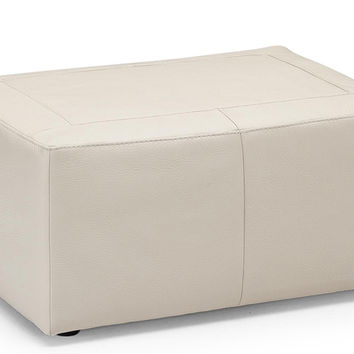 Aso Leather Rectangle Ottoman by Natuzzi Editions