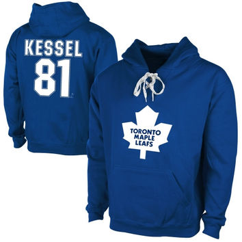 Old Time Hockey Phil Kessel Toronto Maple Leafs Current Player Malcolm Skate Lace-Up Name & Number Pullover Hoodie - Royal Blue