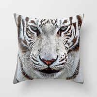 BLUE-EYED BOY Throw Pillow by catspaws | Society6