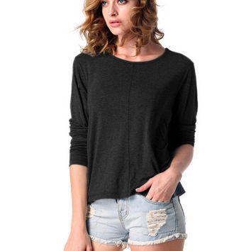 Half Sleeve Short Front Knit Top