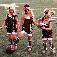Clearance! DELUXE Football Halloween Costume for Girls - Toddler Halloween football player for toddlers, children, babies - Complete Set