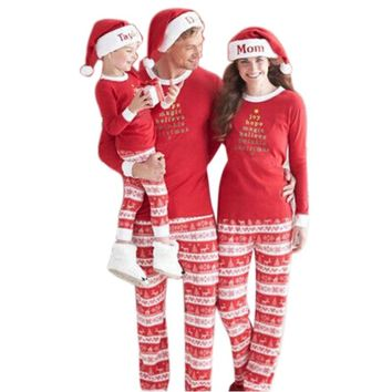 Family Christmas Pajamas Family Clothes Matching Mother Daughter 2017 Fashion Father Son Mon New Year Family pyjama femme Sets