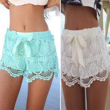 Lace Shorts Beach Pants B0015261
