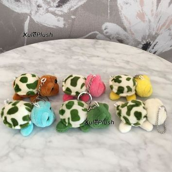 Kawaii FULL 6Colors - Little 7CM New Tortoise Stuffed Plush Toy , Gift Key chain Little Turtle Plush TOY DOLL ; Baby plush toy