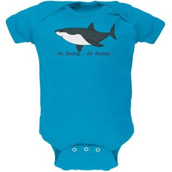 LMFCY8 Great White Shark Suspense Cute Soft Baby One Piece