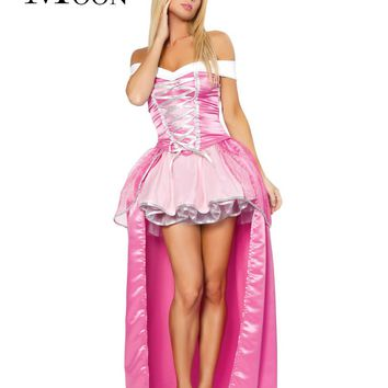 MOONIGHT Play The Role Of Uniform Princess Dress Pink Wedding Dress Halloween Costumes For Girl