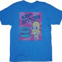 The Simpsons Homer Mr. Sparkle Japanese Detergent Faded Blue T-Shirt