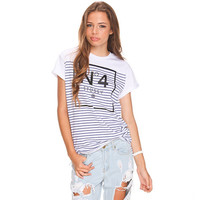 Stussy No 4 Stripe T-Shirt