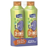 Suave Shampoo & Conditioner 3-in-1 Kids Apple Twin Pack 45oz