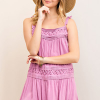 Dusty Rose Summer Slip Dress