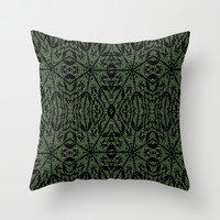 Forest Green Etch Throw Pillow by 2sweet4words