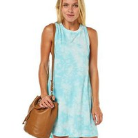 RUSTY RIPPLE WOMENS DRESS - VAPOUR BLUE