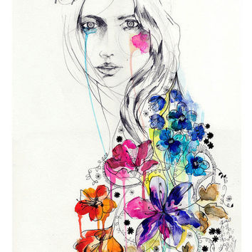 Lost // FASHION ILLUSTRATION // A4 Giclée print from original watercolor-