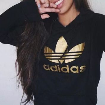 Adidas' original gold Logo hoodies.