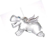 StealStreet SS-UG-HG-681 Flying Hippo Collectible Hippopotamus Decoration Design Ornament Model