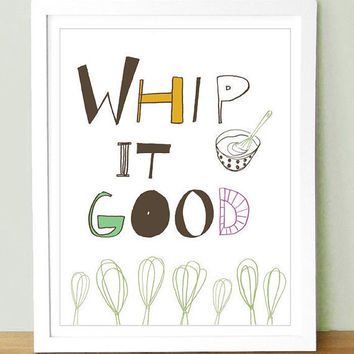 Whip It Good Art Print   8x10 by UUPP on Etsy