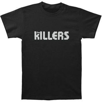 Killers Men's  White Logo Slim Fit T-shirt Black Rockabilia